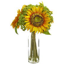 "12"" Sunflower Artificial Arrangement in Vase"