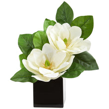 Magnolia Artificial Arrangement in Black Vase