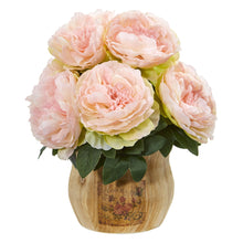 Peony Artificial Arrangement in Decorative Planter