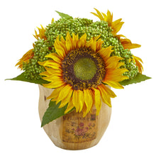 Sunflower Artificial Arrangement in Decorative Planter (Set of 2)