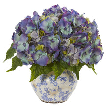 Hydrangea Artificial Arrangement in Floral Design Vase
