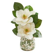 Magnolia Artificial Arrangement in Floral Design Vase