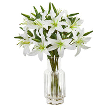 Lilly Artificial Arrangement in Glass Vase