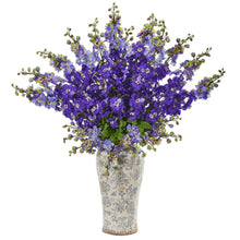 "38"" Delphinium Artificial Arrangement in Decorative Vase"