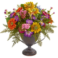 Mixed Floral Artificial Arrangement in Goblet