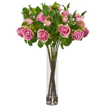 Rose Artificial Arrangement in Cylinder Vase