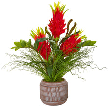 Dragon Fruit, Zamioculcas and Grass Artificial Arrangement