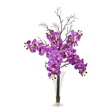 "38"" Elegant Phalaenopsis Orchid Artificial Arrangement in Flared Vase"