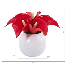 Calla Lily Artificial Arrangement in White Vase (Set of 2)