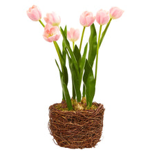 Tulip Artificial Arrangement in Twig Vase