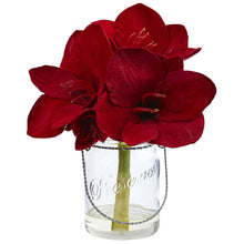 Amaryllis in Glass Vase (Set of 2)