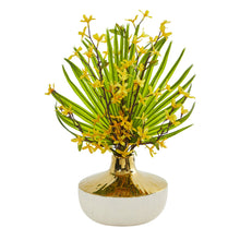 Forsythia and Fan Palm Artificial Arrangement