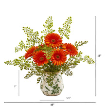 Gerber Daisy and Maiden Hair Artificial Arrangement in Vase