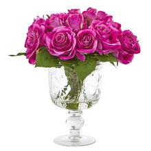 Rose Artificial Arrangement in Royal Glass Urn