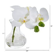 Phalaenopsis Orchid Artificial Arrangement in Vase (Set of 2)