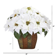 "18"" Poinsettia Artificial Arrangement in Decorative Planter"