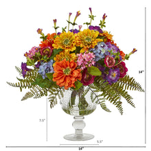 Mixed Flowers Artificial Arrangement in Royal Vase