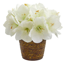 Amaryllis Artificial Arrangement in Basket