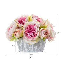 Peony Artificial Arrangement in Decorative Vase