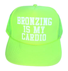 Bronzing Is My Cardio Hat- WHITE LOGO