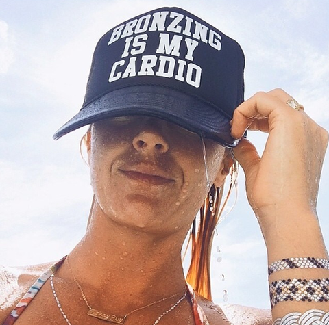 Bronzing Is My Cardio Hat- GOLD LOGO