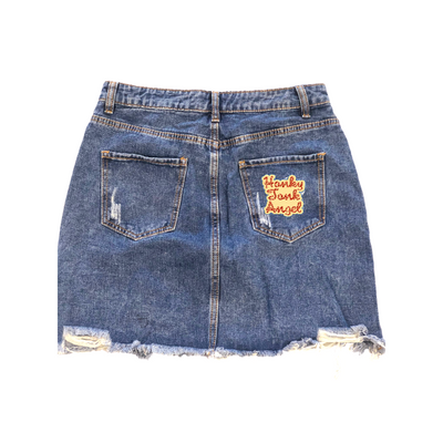 Honky Tonk Angel Denim Skirt