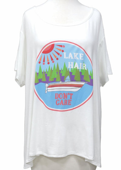 Lake Hair Don't Care Tee