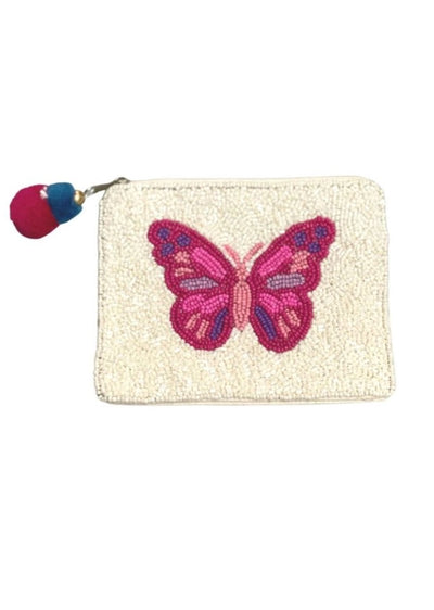 PINK BUTTERFLY COIN BAG