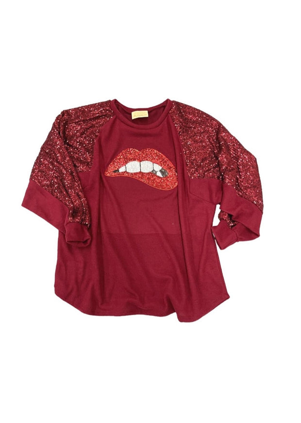 SMOOCHES SEQUIN TOP