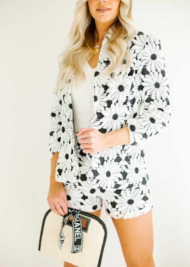 DAISY DOT BLAZER AND SHORT SET