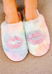 RAINBOW PUCKER UP SLIPPERS