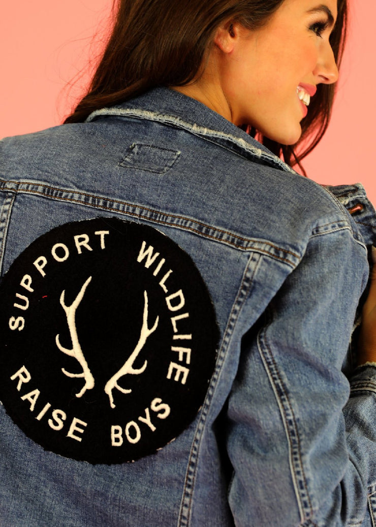 Support Wildlife Raise Boys Denim Jacket