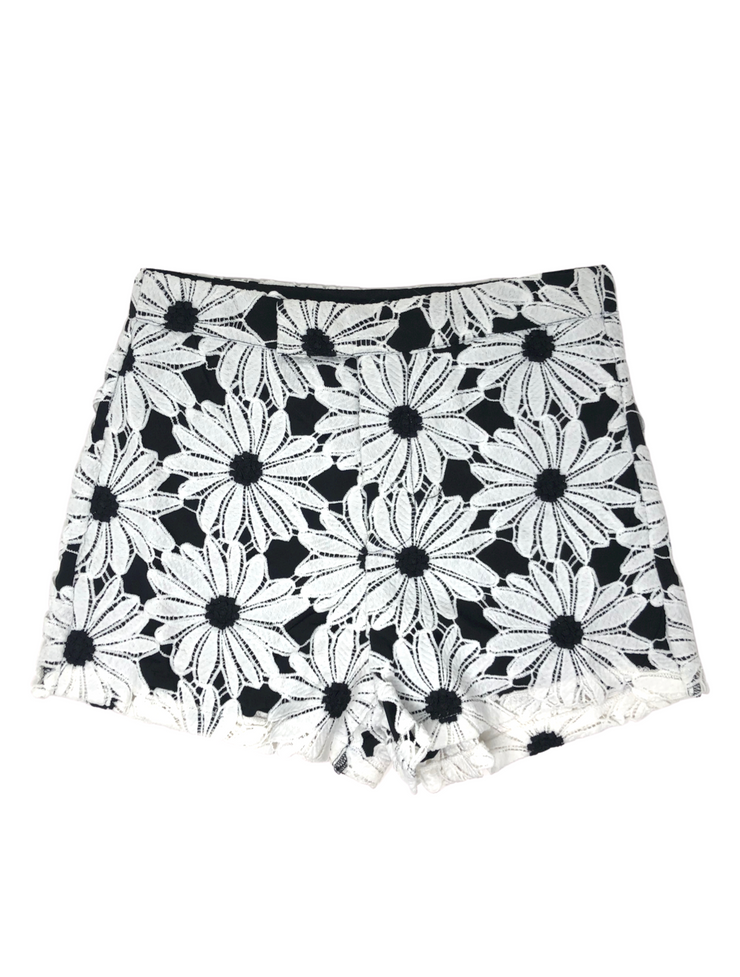 Black and White Daisy Dot Shorts