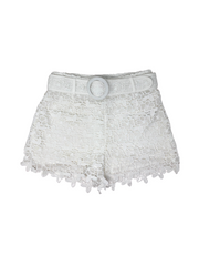 BELTED LACEY SHORT