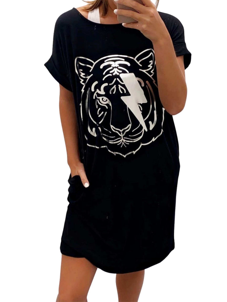 Go Tigers T-shirt Dress