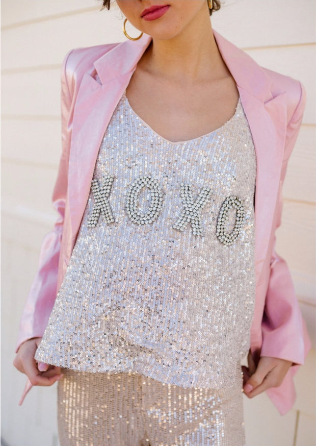 XOXO SEQUIN TANK