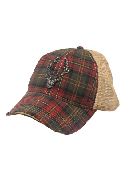 Plaid Deer Hat