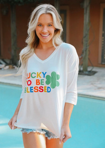 LUCKY TO BE BLESSED JUDY TEE