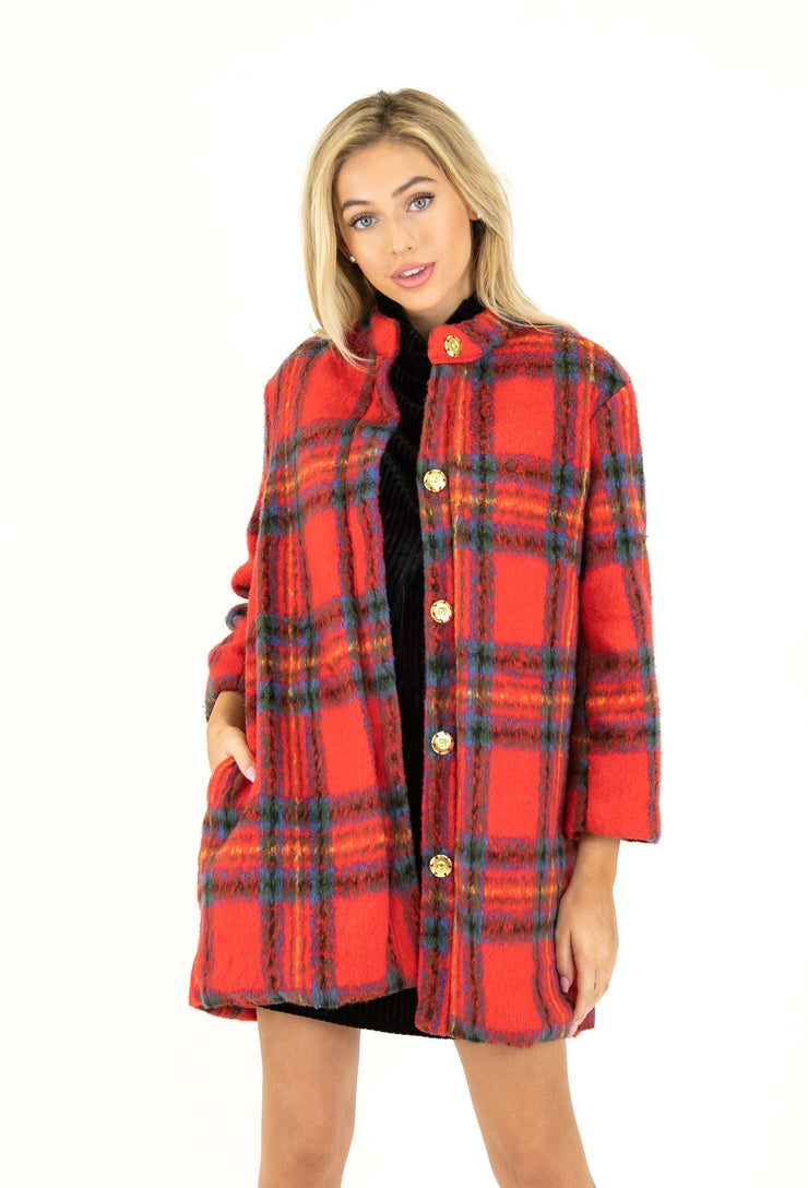 Cambridge Plaid Coat