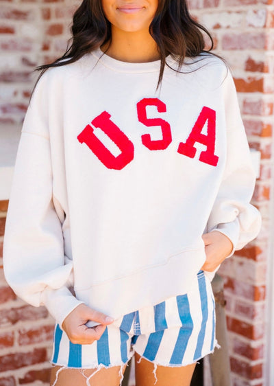 JERSEY LETTER USA PULLOVER