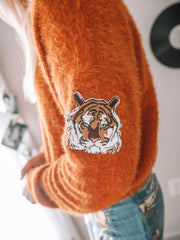 Go Tigers Rust Sweater