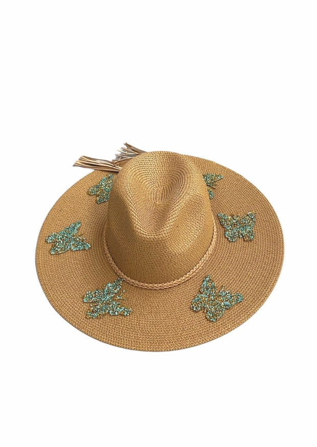 BUTTERFLY KISSES STRAW HAT