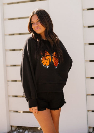 BUTTERFLY KISSES PULLOVER