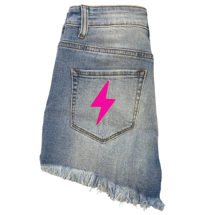 Bolt Denim Shorts