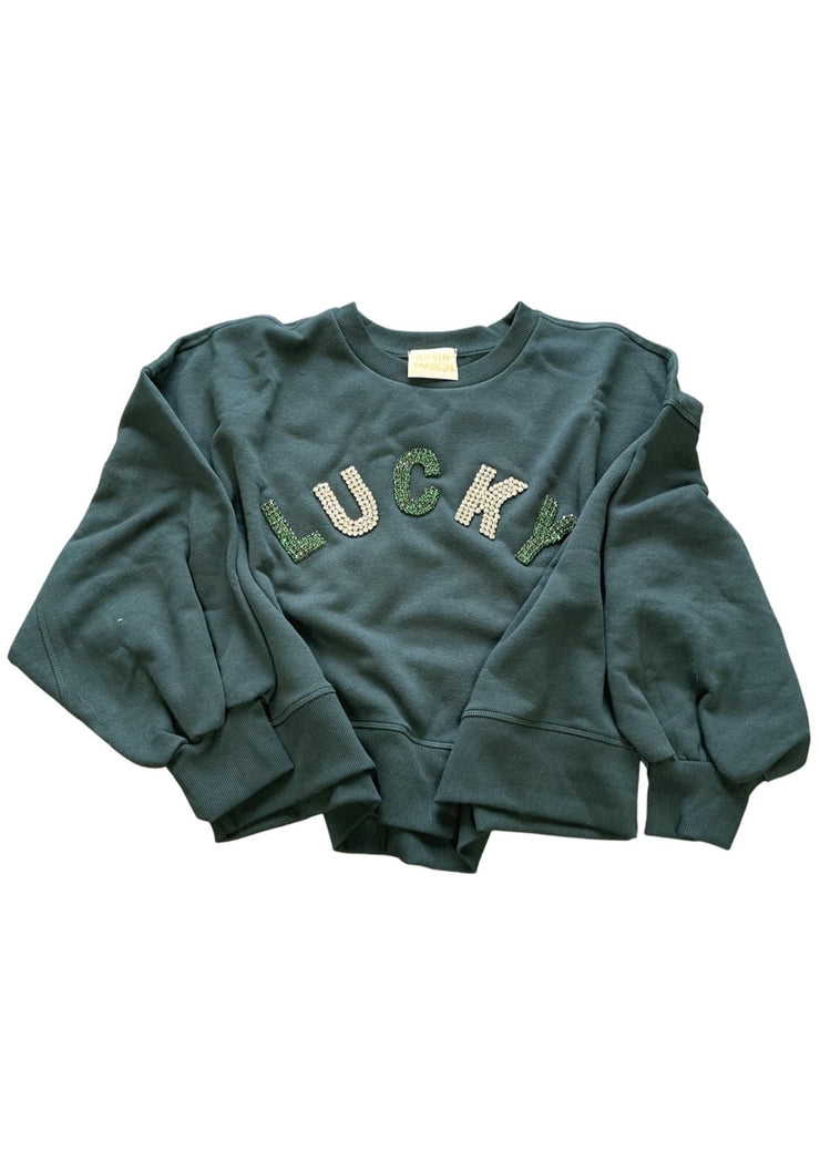 HUNTER GREEN LUCKY PULLOVER