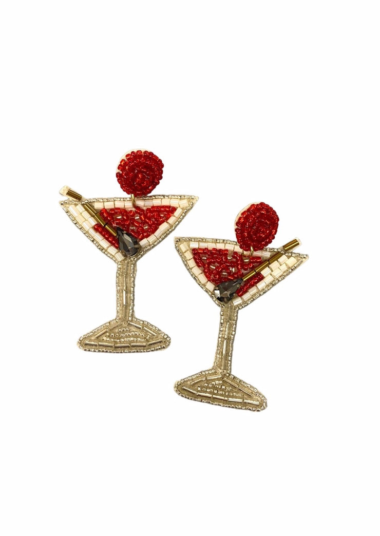 I LOVE MARTINIS EARRING