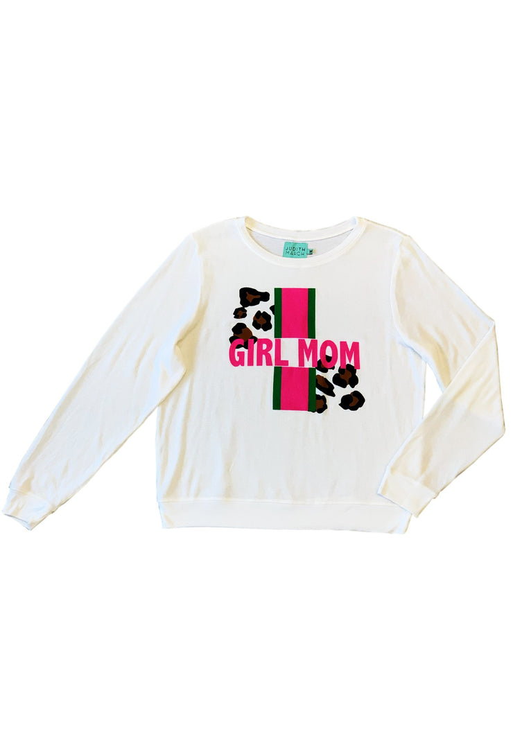 """GIRL MOM"" FUZZY PULLOVER"