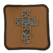BEADED CROSS PATCH