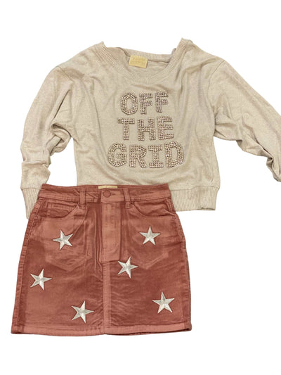 Star Corduroy Skirt