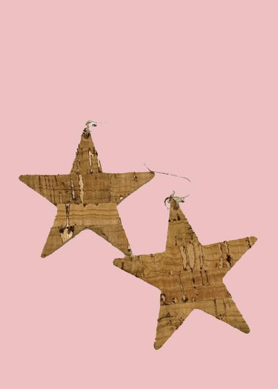 Cork Star Earrings